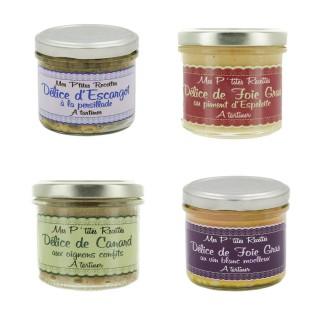 Délice à tartiner : canard et foie gras