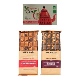 Duo chocolat noir/lait - infusion Rooibos BIO