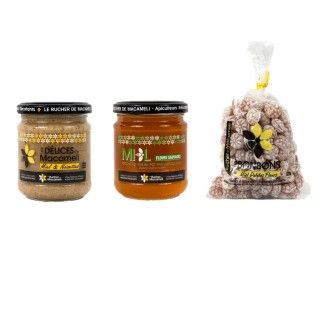 Miel de fleurs sauvages, pâte à tartiner délice, bonbons au miel