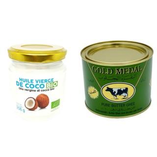 Huile vierge de coco BIO - beurre clarifié (ghee)