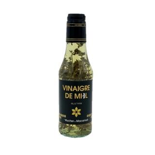 Vinaigre de miel ail et thym - Le Rucher de Macameli - bouteille 250ml