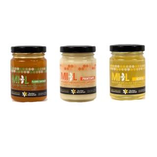 Trio de miels - Monts du Lyonnais - pot 125g