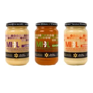 Trio de miels - Monts du Lyonnais - pot 500g