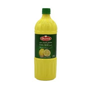 Acide citrique liquide - Durra - bouteille 1L