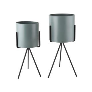 Duo de Cache-pot Pedestal XL - Vert