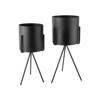 Duo de Cache-pot Pedestal XL - Noir