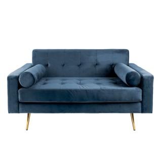 Canapé en velours Embrace - Bleu jeans