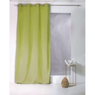 Rideau uni effet bachette - 135 x 240 cm - Vert anis