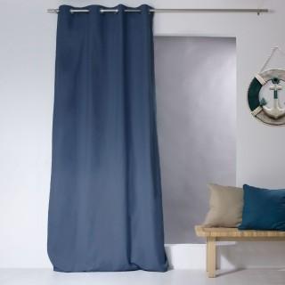 Rideau uni effet bachette - 135 x 240 cm - Bleu marine