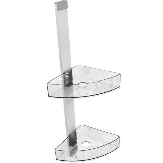 Valet de douche d'angle Premium avec 2 étagères