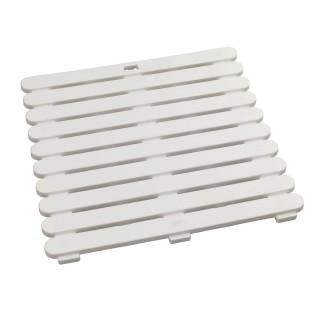 Caillebotis de douche - 50 x 50 cm. - Blanc