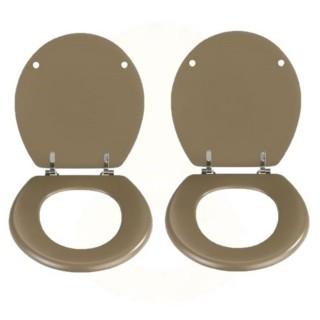 2 x Abattant WC Prima en MDF - Taupe