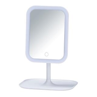 Miroir LED à poser Bertiolo - Blanc