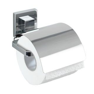 Dérouleur de papier WC avec couvercle en acier inox Quadro