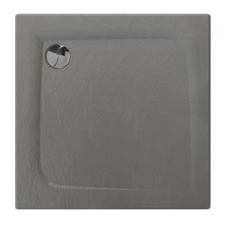 Receveur de douche carré effet pierre Mooneo - L. 80 x l. 80 cm - Gris anthracite