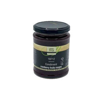 Condiment cranberry fruits rouge - Maison des Gourmets - pot 310g