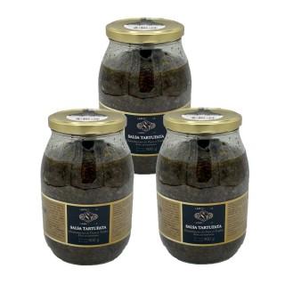 Lot 3x Salsa tartufata / sauce truffe d'été 5% - Sapori d'Italia - pot 900g