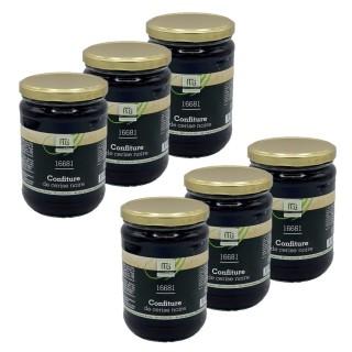 Lot 6x Confiture cerise noire piment d'Espelette - Maison des Gourmets - pot 650g