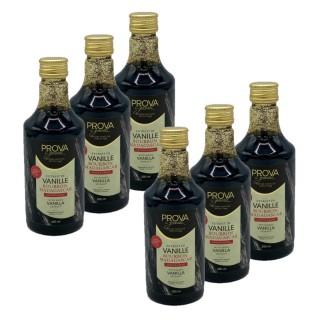 Lot 6x Extrait vanille Bourbon de Madagascar avec graines - Prova Gourmet - bouteille 250ml