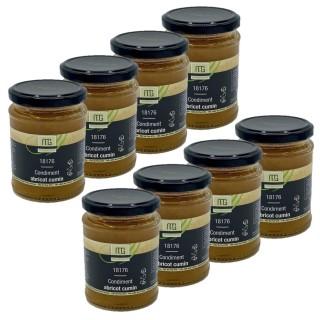 Lot 8x Condiment abricot cumin - Maison des Gourmets - pot 310g