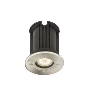 Luminaire extérieur en inox rond - Diam. 11 cm - Gris