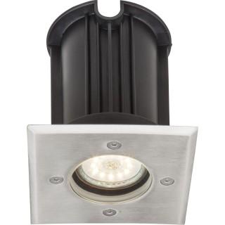 Luminaire extérieur en inox carré - Diam. 11 cm - Gris