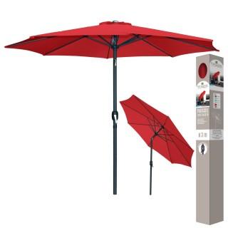 Parasol inclinable avec Mat en Aluminium - Groseille - Diam 300 cm