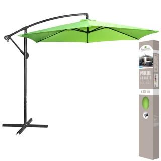 Parasol déporté avec manivelle - Diam. 300 cm. - Vert Anis